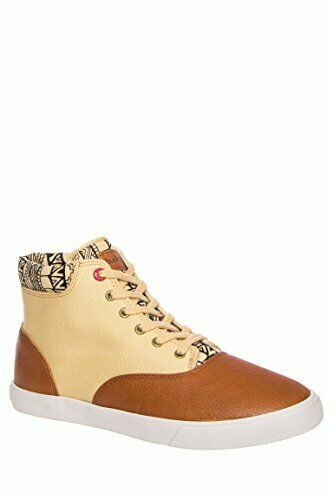 Bucketfeet Mens Pindou Mid Canvas Lace-Up US 12 Brown Black