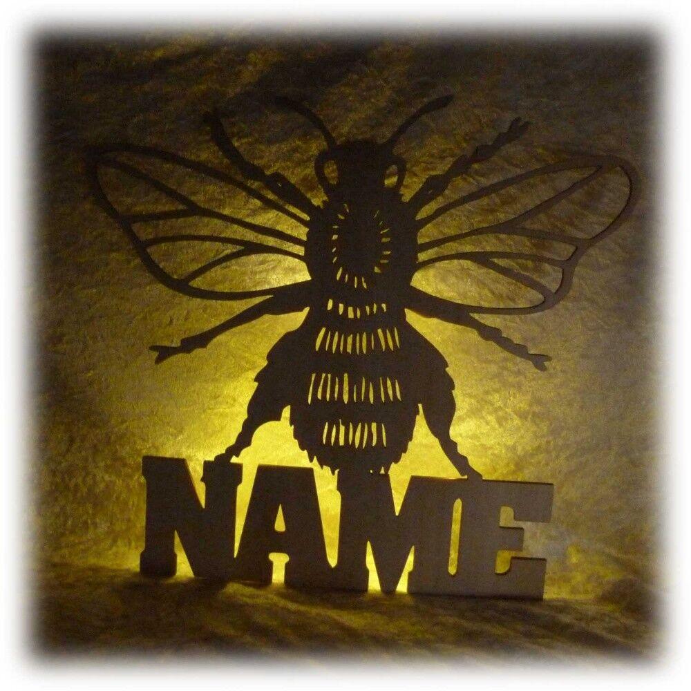 LED Biene Imker Deko Licht Geschenkartikel mit Namen | Sorgfältig ausgewählte Materialien