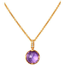 Bvlgari Parentesi 18K Rose Gold Amethyst Necklace 344849