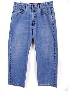 Polo-Ralph-Lauren-Mens-Blue-Medium-Wash-Straight-Leg-Jeans-Sz-34-IS-26-5-GUC