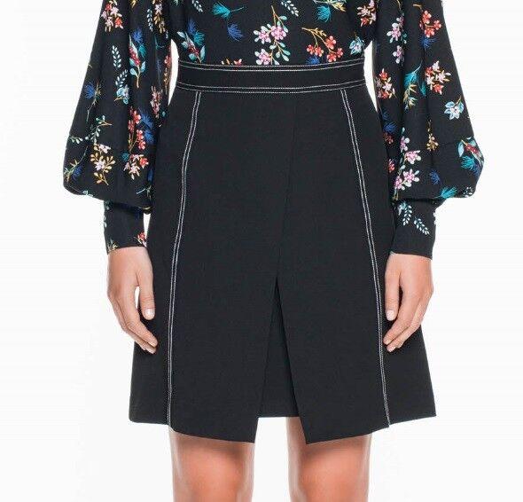 VERONIKA MAINE Stretch Twill Stitched A-Line Skirt - size 10 - BNWT RRP  169