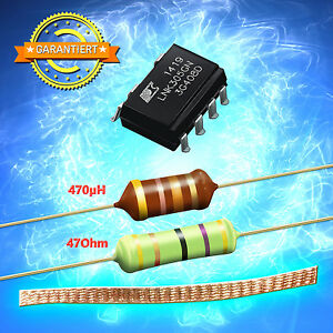 protection diode p6ke200 Throttle 470 µ Lnk304gn resistance 47 Ohm 3w entlötlitze