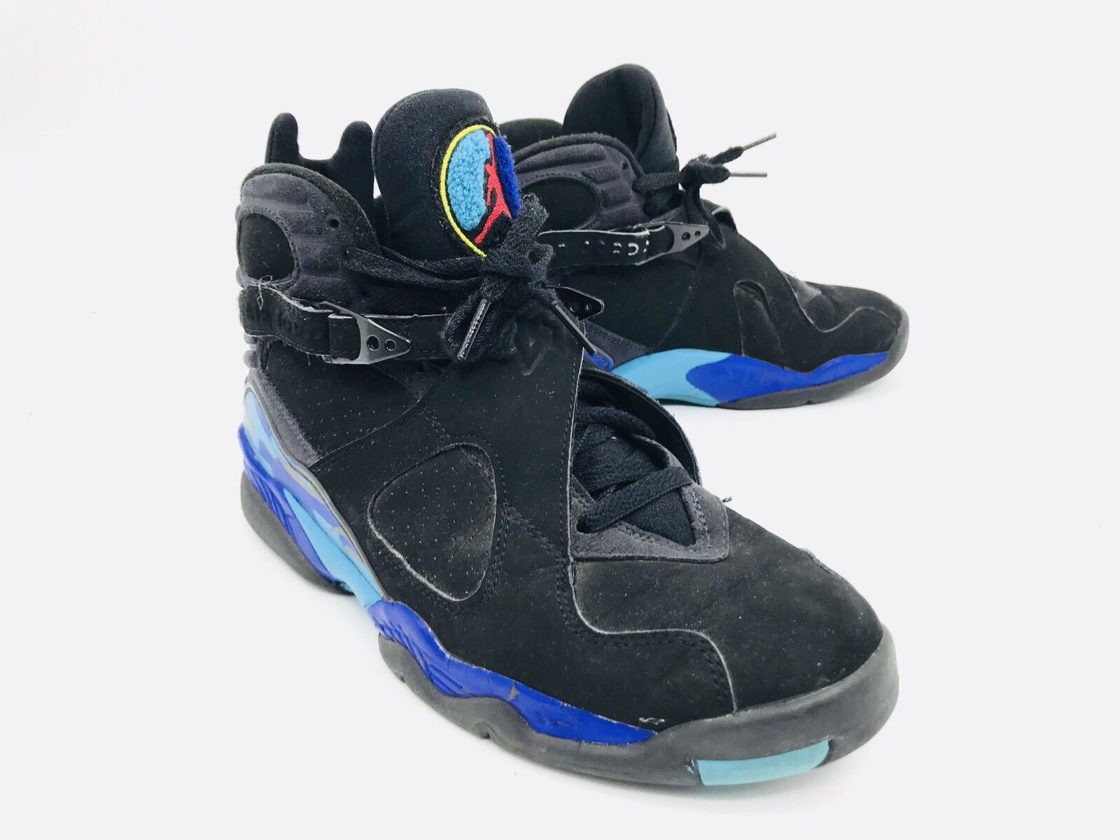 Nike Air Jordan 8 Retro Black Blue Shoes 305381-041 Mens Size 8.5
