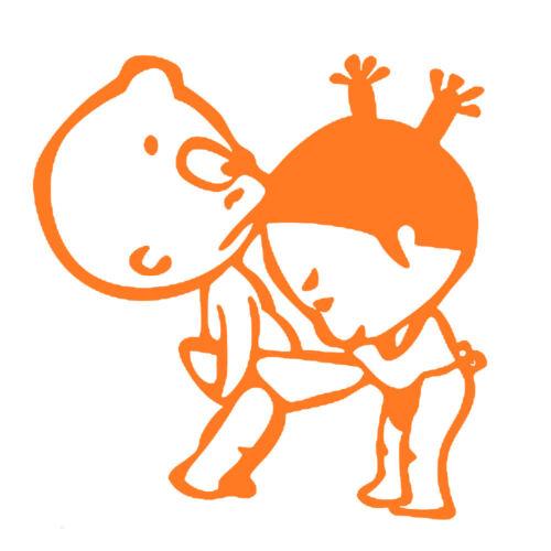 Sticker Bébé Humour 15x15cm à 30x30cm Tailles et Coloris Divers PFPG002