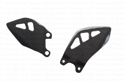 Kawasaki Ninja ZX10R ZX10 R Heel Foot Guard Plate Carbon Fiber Fibre 2011-2016