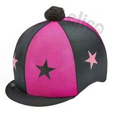3656096b7e0 item 6 Lycra Riding Skull Cap Covers XC Hat Silk Stars   Pom Pom -Lycra  Riding Skull Cap Covers XC Hat Silk Stars   Pom Pom
