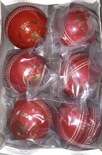 2 x Professional Match Quality Kookaburra Cricket Balls 5.5 oz Game Hardball