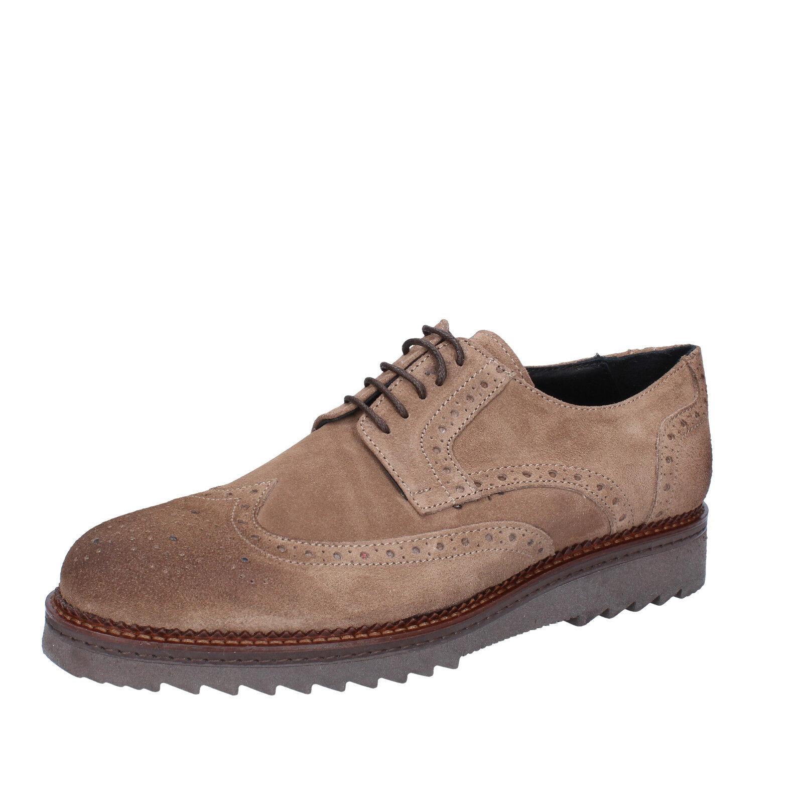 Men's shoes SALVO BARONE 8 (EU 41) elegant beige suede BZ191-C