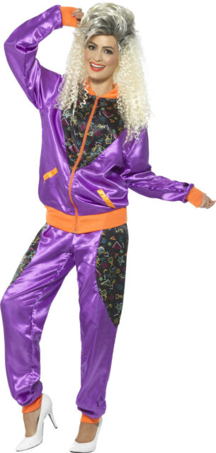 Neón Retro Jogger Disfraz para mujer NUEVO - MUJER CARNAVAL revestimiento Kos