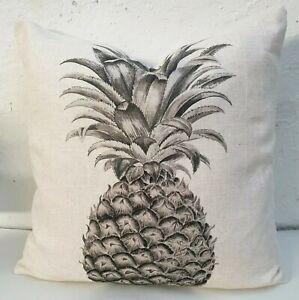 Sanderson-Ananas-Royale-Graphite-Tissu-Lin-Coussin-Housse-18-034-x18-034
