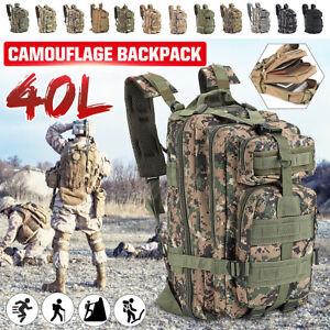 40L Kampfrucksack Rucksack Tarn Tasche Trekking Armeerucksack Wasserdicht  *de