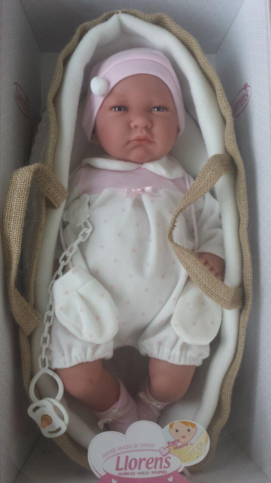 Llorens Lala hecho a mano realista recién nacido realista muñeca bebé niña llorando - 42CM