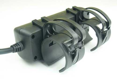 10 x 3-fach Steckdose 20 x SNAP Black Traversen Kabel Befestigungs Klammer incl