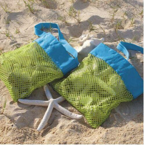 Pretty Sand-Away Family Style Mesh Beach Carry Bag