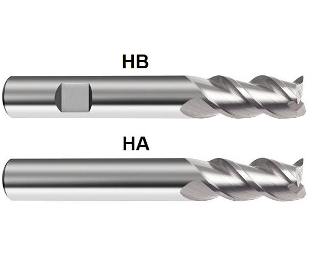 Gühring VHM Hartmetall Fräser Alu Bohrnutenfräser D= 2mm -20mm Z=3 Schaftfräser