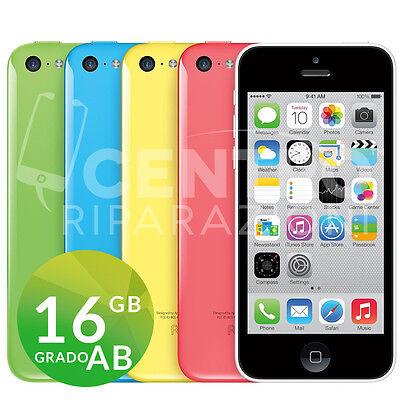 APPLE IPHONE 5C 16GB GRADO AB ORIGINALE RICONDIZIONATO RIGENERATO GARANZIA