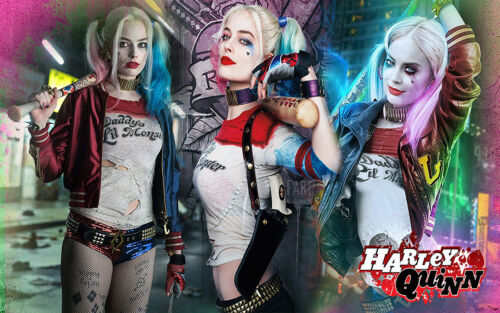 All Sizes Harley Quinn Marvel Suicide Squad Canvas Wall Art Print Picture