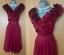 KAREN-MILLEN-UK-12-Dark-Red-Silk-Frilled-Front-Cocktail-Party-Prom-Flare-Dress thumbnail 1