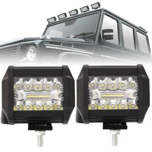 2Pcs-200W-LED-LUCE-FARO-12V-80V-LAMPADA-LAVORO-FARETTO-AUTO-BARCA-CAMION-KLW-SUV