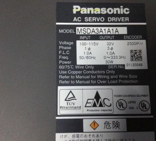 Details about  /1pc Used Panasonic servo drive MSDA3A1A1A