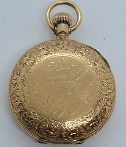 Antique Working 1889 Waltham Ladies Gold G.F. Victorian Full Hunter Pocket Watch
