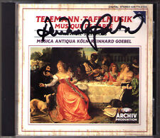 Reinhard GOEBEL Signiert TELEMANN Tafelmusik Table Music MUSICA ANTIQUA KÖLN CD