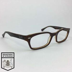 c5e3654e565 Image is loading RAY-BAN-eyeglass-TORTOISE-RECTANGLE-EYEGLASS -FRAME-Authentic-