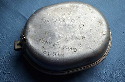 Wwii Mess Kit Etched Quot India Quot Ebay