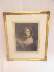 Vintage-Signed-Ernest-Stamp-Mezzotint-Print-of-a-Woman-Printmakers-Association
