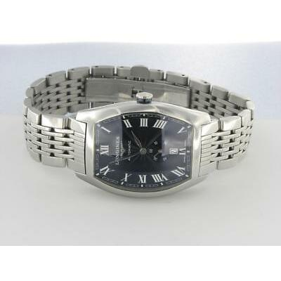 LONGINES EVIDENZA MEN'S STAINLESS STEEL AUTOMATIC WATCH LARGE SIZE BLACK DIAL