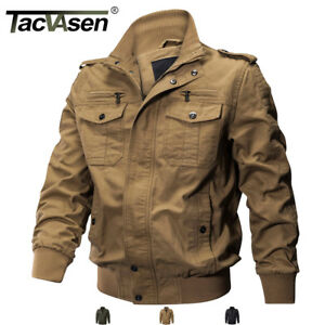 TACVASEN-Men-039-s-Military-Cargo-Jacket-Cotton-Coats-MA-1-Airborne-Bomber-Jackets