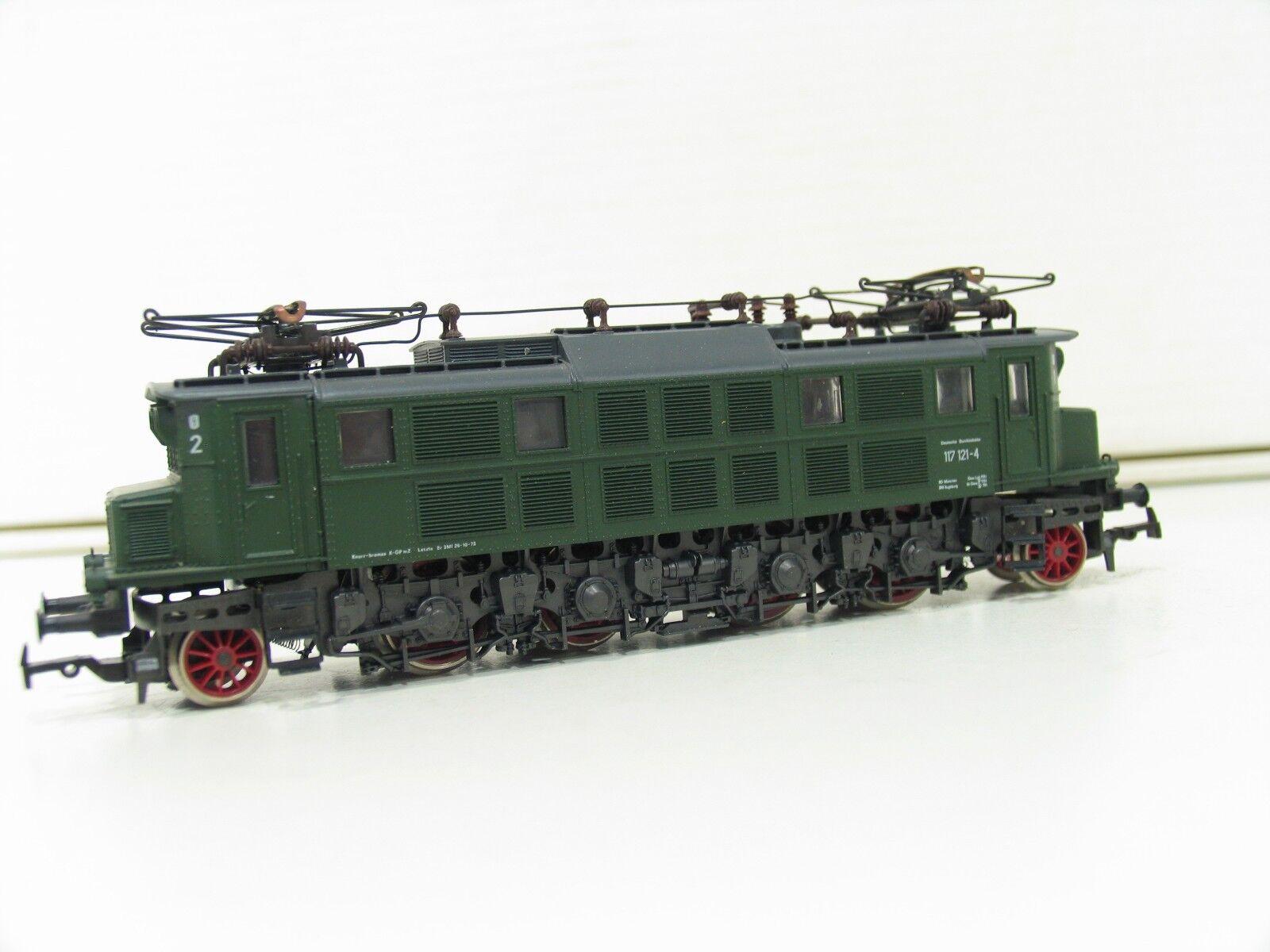RIVAROSSI 1668 E-Lok BR 117 verde delle DB sp458