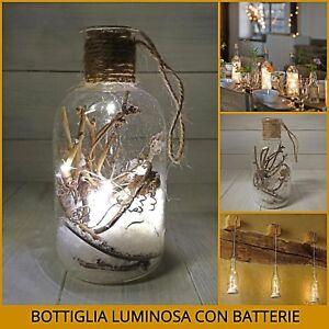 Decorazioni Natalizie A Led.Bottiglia Luminosa A Luci Led Per Tavola Albero Di Natale Decorazioni Natalizie Ebay