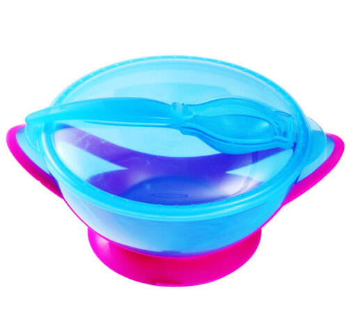 BABY FEEDING BOWL BabyOno 1025 Suction Stay Put No Spill Bowl with Spoon and Lid