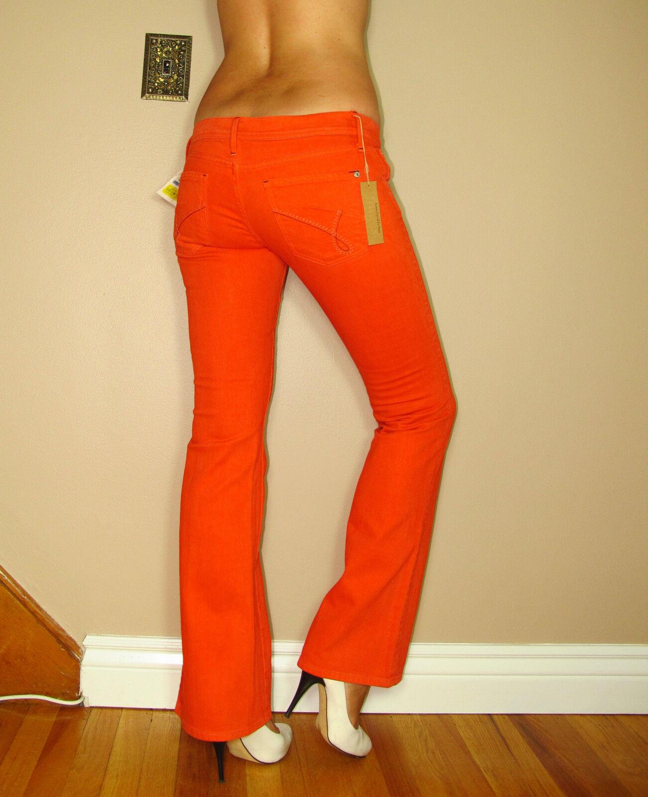 James Spice Corallo Arancione Coloreato Wash Sollevamento Snellente Stivali Jeans