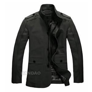 Cotton-mens-Jacket-Fashion-Slim-Coat-casual-clothes-outwear-Autumn-Winter-AGXL