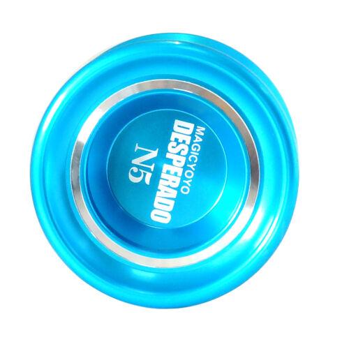 Desperado N5 Magic Yoyo Logo-Laser Engrave for All Tricks Blue