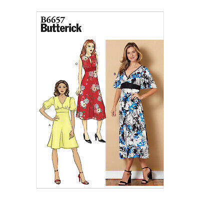 Butterick 6657 Sewing Pattern to MAKE Easy Semi-Fitted Dresses