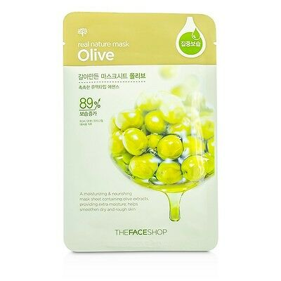 The Face Shop Real Nature Mask - Olive (Moisturizing & Nourishing) 10x23g
