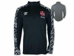 Umbro-1-FC-Nuernberg-Half-Zip-Top-20-21-schwarz-FCN-Trainingstop-Fan-Shirt-S-3XL