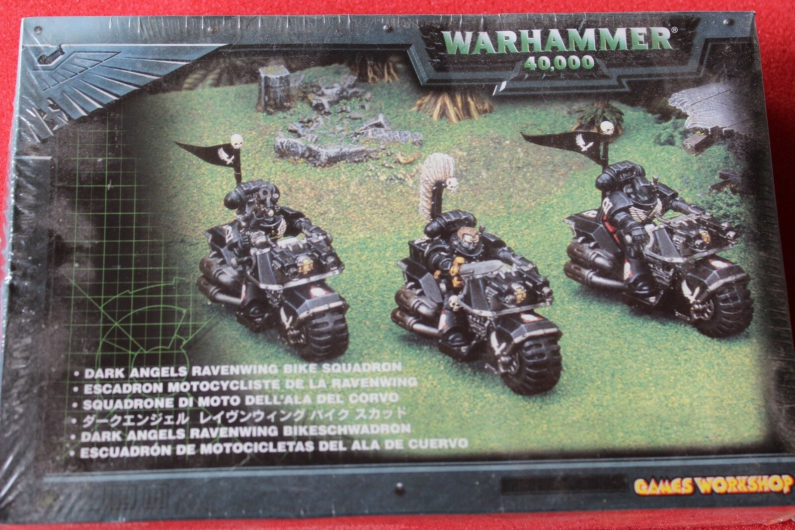 Games Workshop WARHAMMER 40k Dark Angels Ravenwing BIKE SQUADRONE NUOVO CON SCATOLA 1999 fuori catalogo