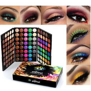 NEU120-Farben-Lidschatten-Eyeshadow-Kosmetik-Matt-Schminke-Palette-Makeup-Set