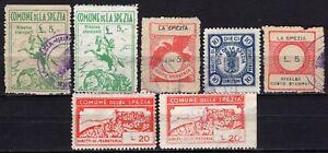 330-Comune-di-La-Spezia-Lotto-di-7-marche-da-bollo-Usati