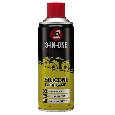 3 in One Professional Silicone Lubricant 400ml Lube Rapid Drying WD-40 44610/03