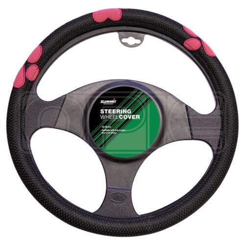 Single Summit SUM-718 Pink Paw Print Steering Wheel Cover