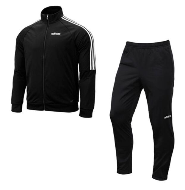 Adidas Men Sereno 19 Training Suit Set Black White Soccer GYM Jacket Pant DY3141