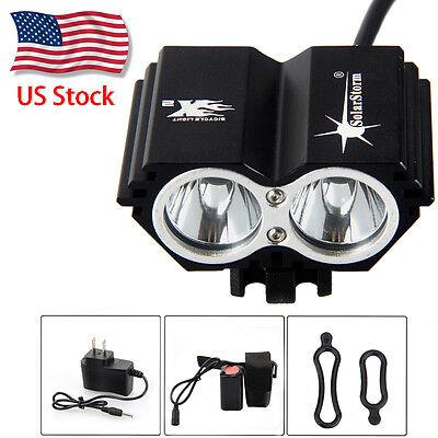 SolarStorm 15000lm 3xT6 LED Front Bicycle Lamp Bike Headlamp Headlight w/Battery