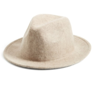 Michael Stars Womens Ivory No Strings Wool Fedora One Size 2535