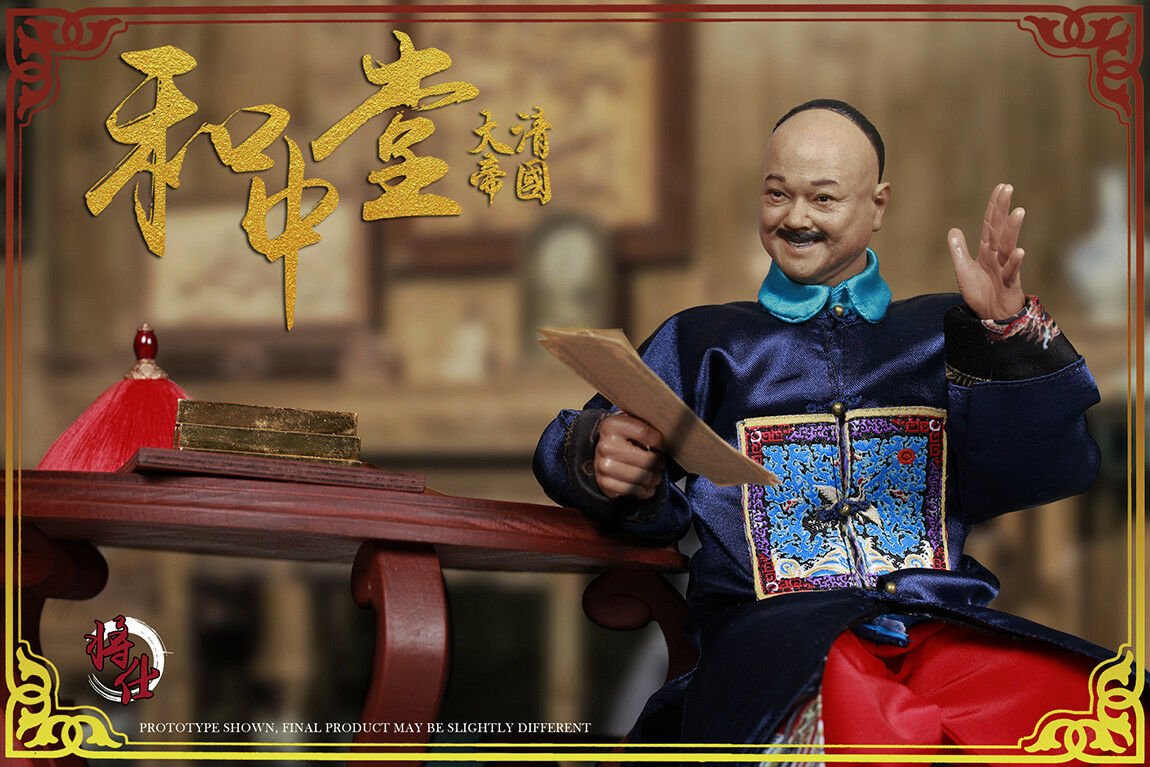 JSModel 1 6 Qing Empire Series MN006 Military Minister   MN007 Desk and Chair Pa