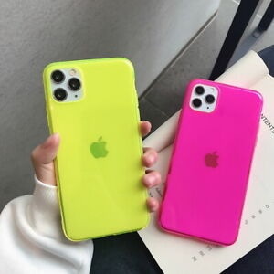Details about Fluorescence Phone Case For iPhone 11 Pro Max Xs XR 7 8 Plus Clear Rubber Cover